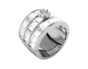 Women bride band ring 3dm render detail jewelry female