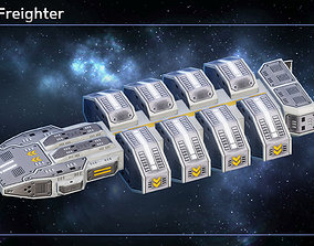 3D model Spaceship Freighters