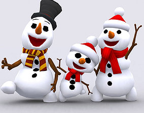 animated 3DRT-Crazy dancing snowmen
