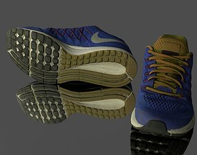 Low poly sneakers 3D asset
