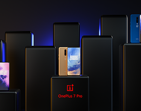 OnePlus 7Pro cell phone 3D model