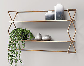 Burnished Brass Shelves 3D model