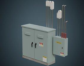 Utility Box 4A 3D asset