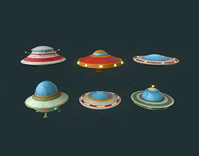 Flying Saucers Pack 3D asset