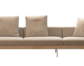 Dock Sofa by B and B Italia 370x99 3D model