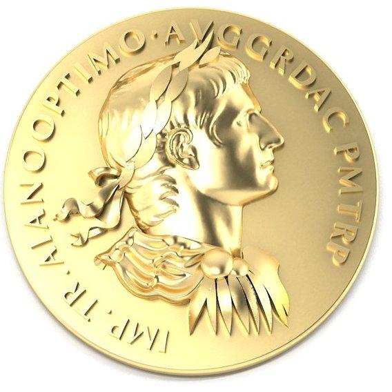 Roman coin depicting the emperor