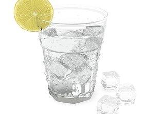 Glass Fizzy Water 3D model