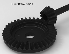 Gear Set 38T 13T 3D printable model