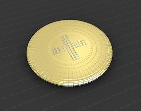 Cross Medallion 3D print model catholic