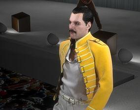 VR / AR ready 3d model of Freddie Mercury singer