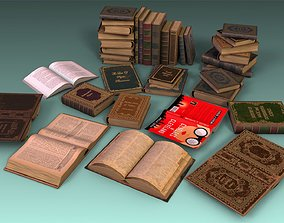 3D asset Book Set