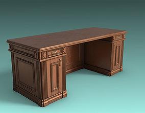 Antique Desk 3D model game-ready