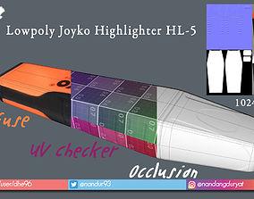 Lowpoly Joyko Highlighter HL-5 3D asset
