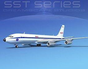 Boeing 707-320 SS NASA 3D