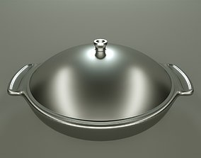 Pan with lid 3D model