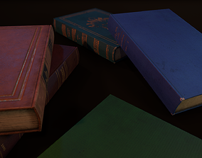 game-ready Old Books - PBR Model