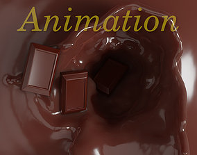 Chocolate animation 3D model