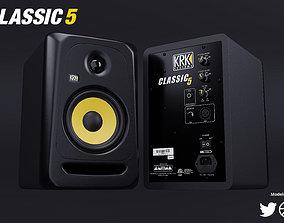3D model KRK Classic 5 Studio Monitor Speakers