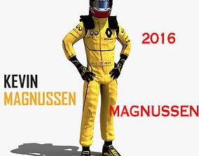 3D asset Kevin Magnussen 2016