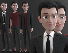 3D model CARTOON MAN - rigged father 2