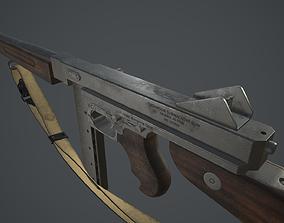 3D model Thompson M1A1 - Low poly