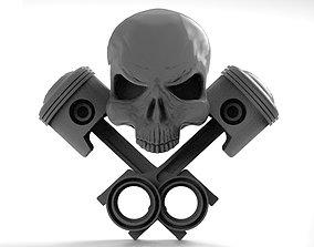 Skull pistons 1 3D print model