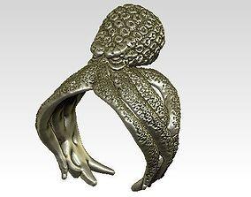 kraken octopus ring 3D print model