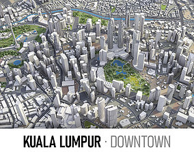3D model Kuala Lumpur - Downtown