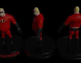 3D asset Mr Incredible