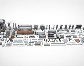 Sci-Fi architecture Elements collection 26 3D model