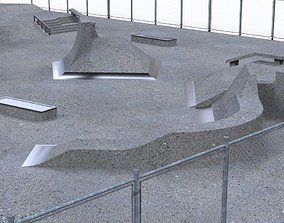 3D asset Concrete skatepark