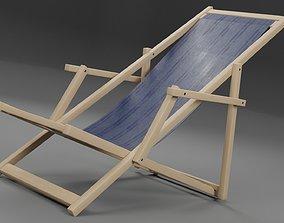 Beach Deckchair 3D asset