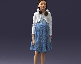 Girl in dress 0809 3D Print Ready miniatures