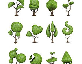 creative tree for game 3D model game-ready