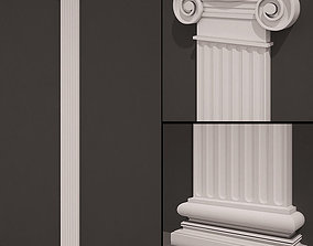 3D model Pilaster antique type 5