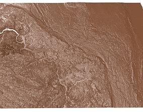 3D print model North Dakota Relief Map
