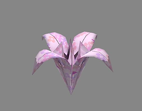 3D asset Origami Lily