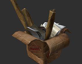 Cardboard Box Stylized 3D model