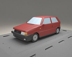 3D model Fiat Uno from 1983