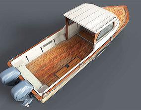 Old Rental Boat 3D model
