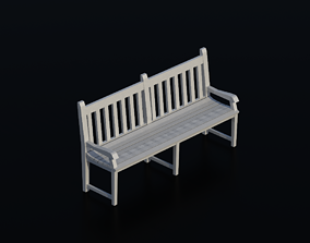 Bench 01 3D asset realtime