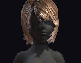 beauty hair 3D model game-ready