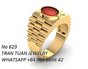 3D print model 623 luxury korean man ring
