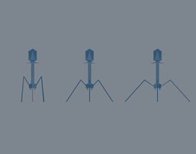 3D model game-ready Bacteriophage