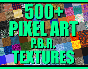 3D model Pixel Art PBR Textures Bundle