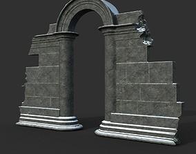 Low poly Ancient Roman Ruin Construction 04 - 3D model 2
