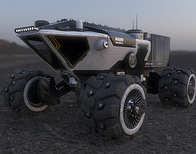 3D model animated low-poly MARS ROVER