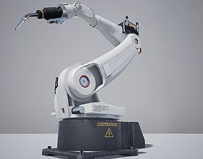 Welder Robot 3D asset