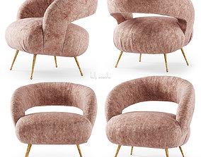 Kelly Wearstler Laurel Lounge chair 3D asset