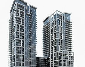 Residential Tower Complex 02 3D asset
